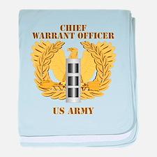 Army - Emblem - Warrant Officer CW3 baby blanket