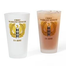 Army - Emblem - Warrant Officer CW3 Drinking Glass