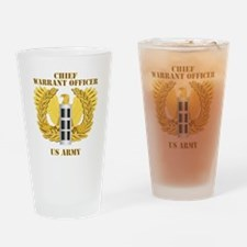 Army - Emblem - Warrant Officer CW3 Drinking Glass