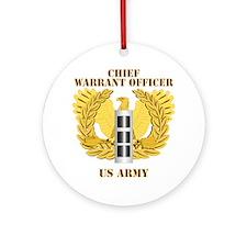Army - Emblem - Warrant Officer CW3 Ornament (Roun