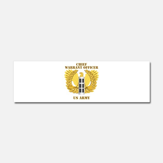 Army - Emblem - Warrant Officer CW3 Car Magnet 10