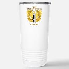Army - Emblem - Warrant Officer CW3 Travel Mug