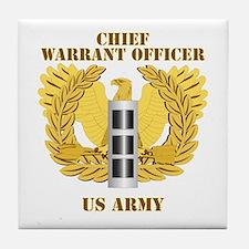 Army - Emblem - Warrant Officer CW3 Tile Coaster