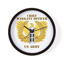 Army - Emblem - Warrant Officer CW3 Wall Clock