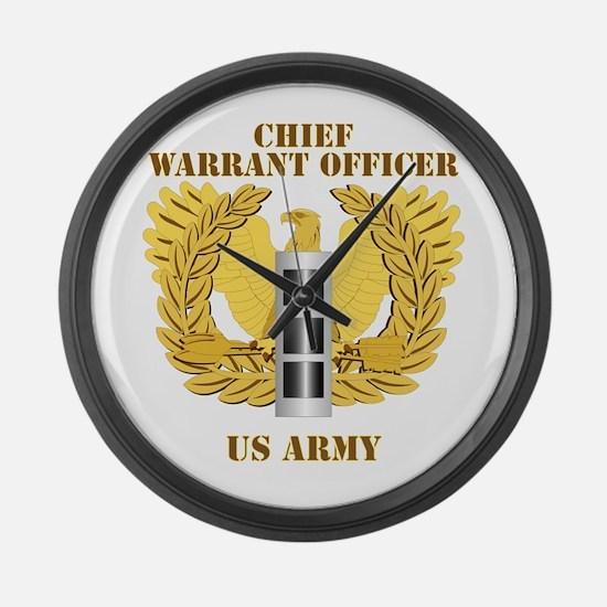 Army - Emblem - Warrant Officer CW3 Large Wall Clo
