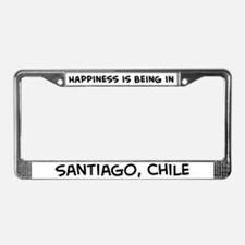 Happiness is Santiago License Plate Frame
