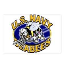 USN Navy Seabees Mad Bee Postcards (Package of 8)