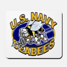 USN Navy Seabees Mad Bee Mousepad