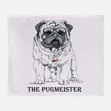The Pugmeister Pug Throw Blanket