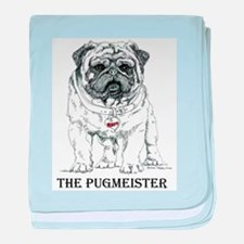 The Pugmeister Pug baby blanket