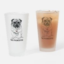 The Pugmeister Pug Drinking Glass