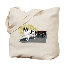 Landseer with Draft Cart Tote Bag