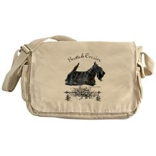 Scottish Terrier Profile Messenger Bag
