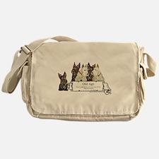 Old Age Scottish Terriers Messenger Bag