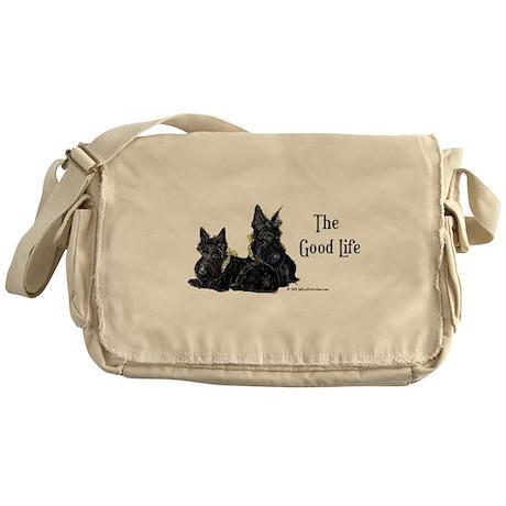 Scottish Terrier Good Life Do Messenger Bag