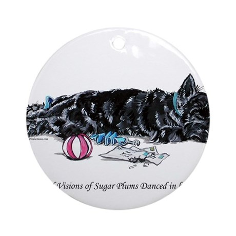 Scottish Terrier Puppy Vision Ornament (Round)
