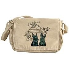 Scottish Terrier Proverb Messenger Bag