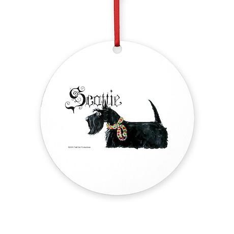 Scottish Terrier Gothic Ornament (Round)