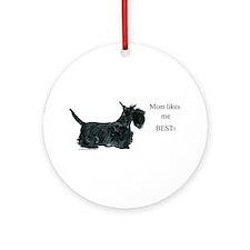 Mom's Scottish Terrier Ornament (Round)