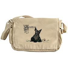 Celtic Scottish Terrier Messenger Bag
