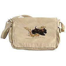 Scottish Terriers run like th Messenger Bag