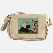 Scotties and Wren Messenger Bag