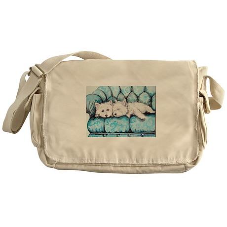 Westie Couch Potatoes Messenger Bag