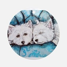 Westie Couch Potatoes Ornament (Round)