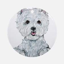 Lovable Westie Ornament (Round)