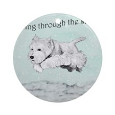 Westhighland Terrier Holiday Ornament (Round)