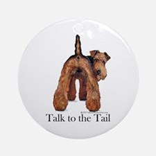 Airedale Terrier Talk Ornament (Round)