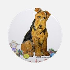 Time to Play Airedale! Ornament (Round)