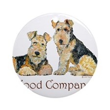 Airedale Terriers - Good Comp Ornament (Round)