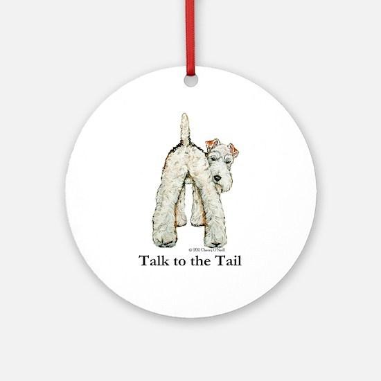 Wire Fox Terrier Tail WFT Ornament (Round)
