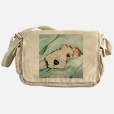Napping Wire Fox Terrier Messenger Bag