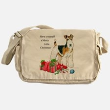 Merry Little Fox Terrier Messenger Bag