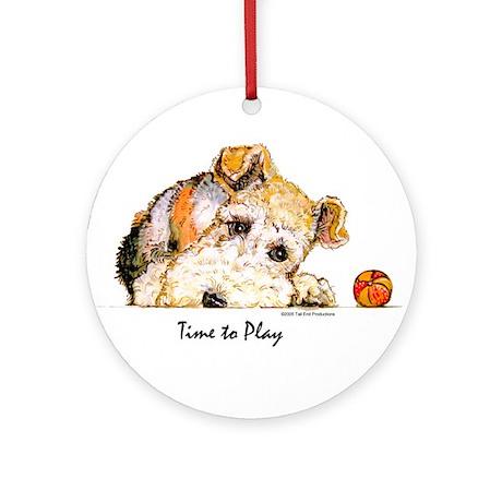 Wire Fox Terrier Ornament (Round)