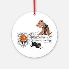 Welsh Terrier Halloween Ornament (Round)