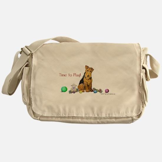 Welsh Terrier Playtime! Messenger Bag