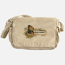 Vintage Welsh Terrier Messenger Bag