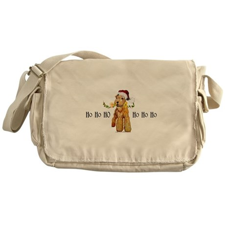 Irish Terrier HO HO HO Messenger Bag