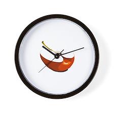 apple slice Wall Clock