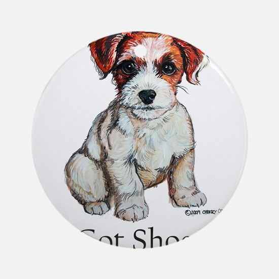 Jack Russell Shoes Ornament (Round)