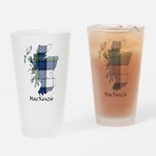 Map-MacKenzie dress Drinking Glass