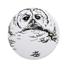 Wise Hoot Owl Ornament (Round)