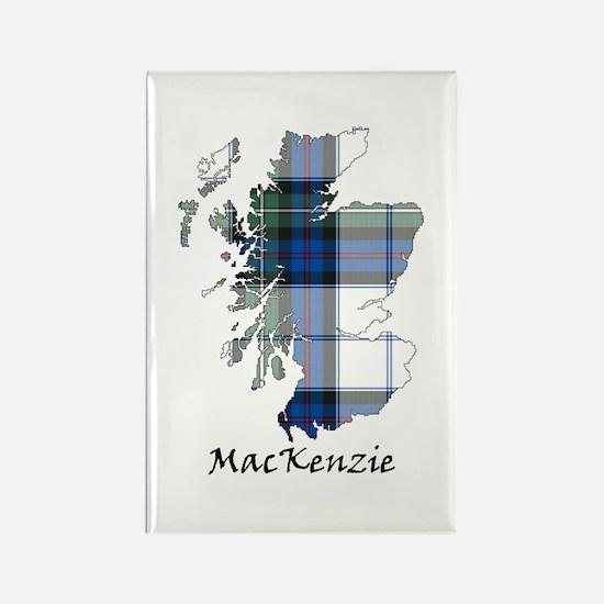 Map-MacKenzie dress Rectangle Magnet
