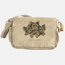 Yorkshire Terrier Puppies! Messenger Bag