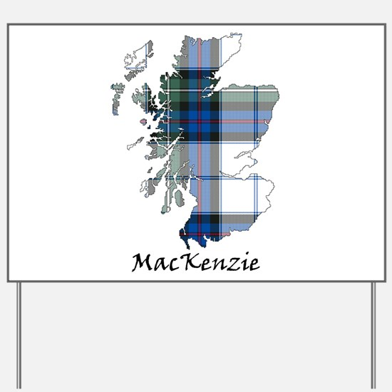 Map-MacKenzie dress Yard Sign