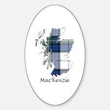 Map-MacKenzie dress Sticker (Oval)