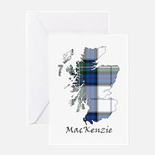 Map-MacKenzie dress Greeting Card